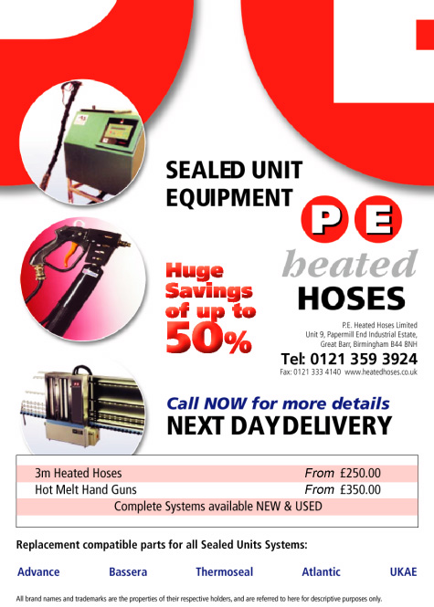 Replacement parts for Sealed Unit Systems: Advance, Bassers, Thermoseal, Atlantic, UKAE
